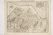 gravure ancienne XVI°Le Pourtraict du Château de PAULMY 1575, Indre et Loire