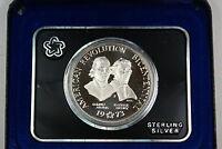 1973 Samuel Adams/Patrick Henry Commemorative Silver Medal w/ Box
