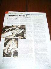 SYDNEY ALLARD - AMERICAN POWERED SPORTS CAR ***ORIGINAL 2011 ARTICLE***