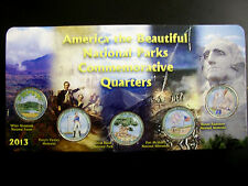 2013 Complete Set of National Parks Colorized Quarters in a Holder