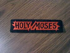 HOLY MOSES,SEW ON RED EMBROIDERED PATCH