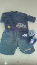Pumpkin Patch boys outfit (New born) top, pants and XS booties