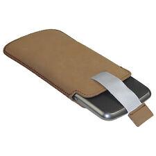 Marron Étui Housse Pochette Case cuir pour LG Google Nexus 4 Android Smartphone