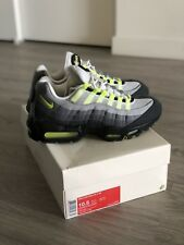 Men's 2014 Nike Air Max 95 OG V SP Patches Neon Green black grey volt 10.5
