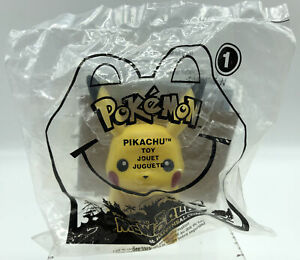 2011 Mcdonald's Pikachu Toy With Card Sealed Happy Meal