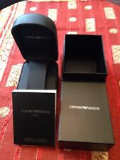 USED AUTHENTIC EMPORIO ARMANI WATCH CASE BOX AND MANUAL Good Condition