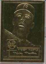 1996 TOPPS 1952 MICKEY MANTLE GENIUNE 22K GOLD FOIL W/ COA YANKEE HOF S6673