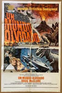 Burroughs LAND THAT TIME FORGOT '75 27x41 dinosaur art Org Movie Poster 2221