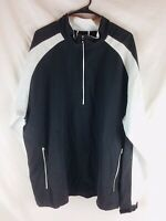 Footjoy FJ 1/4 Zip 2XL Men's Black Golf Windbreaker Rain Long Sleeve Jacket