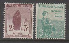 FRANCE - 1917, 2c+3c et 5C+5c War Orphans FONDS TIMBRES - M/M - SG 370/71