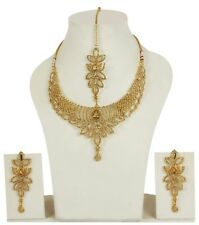 10008 Indian Style Bollywood Gold Plated Wedding Fashion Jewelry Necklace Set