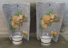 Ceramic Candle Holder Home Decoration Wall Mounted Set of Two