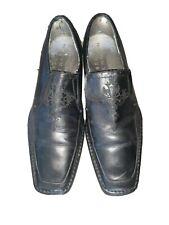Mark Nason Lounge U Rock Black Leather Slip On Loafer Shoes Mens Size 9