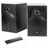 TIBO Plus 3.1, Active HiFi Bookshelf Bluetooth Speakers - Black