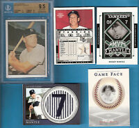 MICKEY MANTLE GAME USED JERSEY + 1978 TCMA GRADED GEM MINT 9.5 CARD + 2 PATCH +1