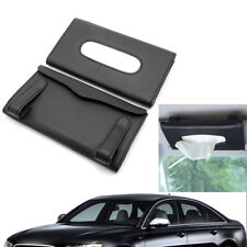 Auto Car PU Interior Paper Towel Tissue Box Covers Holders For Sun Visors Black