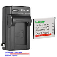 Kastar Battery Wall Charger for Casio NP-60 BC-60 Casio Exilim EX-FS10BE Camera