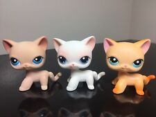 3pcs Littlest Pet Shop Black Cats #339 #228 #64 Short Hair LPS USA SELLER