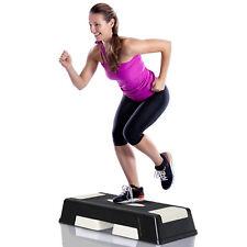 HOMCOM Steppbrett Aerobic Fitness Heimtrainer Stepper 3fach höhenverstellbar