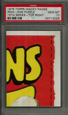 1975 Topps Wacky Packages Iron-Ons Puzzle Top Right 15th Series PSA 10 GEM MINT