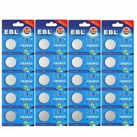 20x EBL CR2032 DL2032 BR2032 Lithium Battery 3V Button Cell For Watch Toys