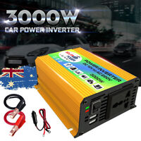 Boat Car 3000W Converter Power Inverter DC 12V to AC 220V Invertor USB Charger