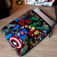"iPad Air Comic Book Avengers 10"" Tablet Case Protective Neoprene Easy Zip Skin"