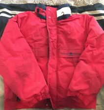 Vintage Tommy Hilfiger Puffy Ski Jacket Size Large Red Black Rare