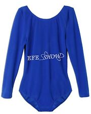 Child Girls Gymnastics Leotard Age 2-12 Stretchy Dance Sports Sleeve Top Uniform