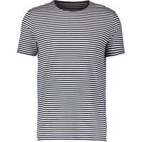 Mens Blue White T Shirt Size L DEREK ROSE Loungewear Base Layer Crew Neck Tee