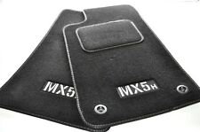 Mazda MX5 MK1/MK2 tapetes Tailored Reposapiés con costuras en Plata Kick Pad - * NUEVO