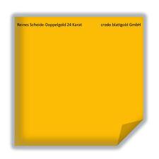 Reines Scheide-Doppelgold extra dick 24 Karat - transfer 10 Blatt neu