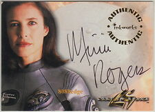 1998 LOST IN SPACE MOVIE AUTO CARD: MIMI ROGERS #A1 AUTOGRAPH EX-WIFE TOM CRUISE
