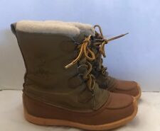 Sorel Vintage Kaufman Canada Made Womens 8 Chugalug Leather Winter Snow Boots gu