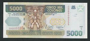 COSTA RICA  5000  COLONES  1999   P-268   UNC