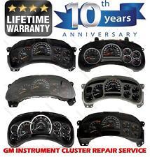 GM Chevy Silverado 1500 Speedometer Instrument Cluster Gauge Repair Service