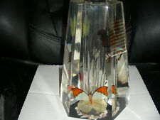 HEAVY LUCITE  BUTTERFLY VASE OR HOLDER BEAUTIFUL