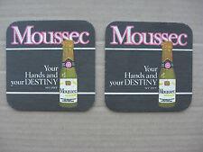 Moussec Sparkling Wine Your Hands & Your Destiny No 2 & No 3 of Set Beer Mats