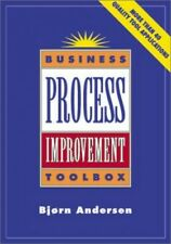 Business Process Improvement Toolbox by Anderson, Bjorn Hardback Book The Cheap