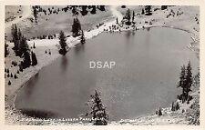 A75/ Lassen Park Emerald Lake California Ca Postcard Real Photo RPPC c1950