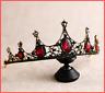 Crystal Tiara Pageants Headband Bride Pearl Crown Hair Bridal Rhinestone Wedding