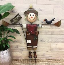 Scarecrow (1.13 Metres Tall) - Metal Garden Decor Ornament Sculpture - BNWT
