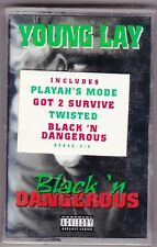 Young Lay - Black 'n Dangerous [PA] (1996, Atlantic Label) rare rap Cassette NEW