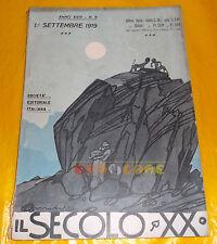 IL SECOLO XX 1919 n. 9 Filiberto Mateldi, G. Donati Petteni, Carlo Ravasio