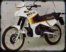 Benelli 125 Bkx A4 Metal Sign Motorbike Vintage Aged