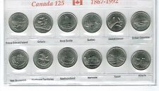 1992 Canadian Brilliant Uncirculated 125 Years Commemorative Twelve Quarters Set