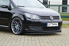 Spoilerschwert Frontspoiler Lippe Cuplippe aus ABS für VW Touran 1T3 GP2 mit ABE