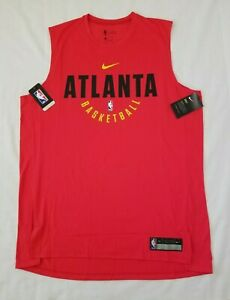 Mens Size XL Red Nike Dry NBA Atlanta Hawks Basketball Sleeveless Shirt 857533-6