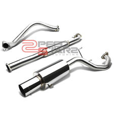 "99-03 MITSUBISHI GALANT STAINLESS STEEL EXHAUST CATBACK SYSTEM 4"" MUFFLER TIP"