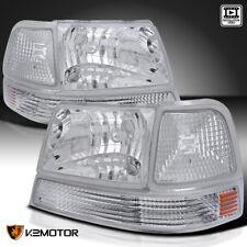 1998-2000 Ranger Chrome Crystal Headlights+Clear Signal Corner Lamps